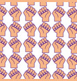 hands human fist pattern background vector image