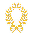 laurel wreath with bow vector image