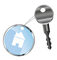 metal key and house vector image