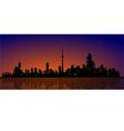 North American Metropolis Skyline Urban City View vector image