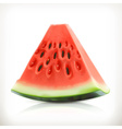 Slice of watermelon summer fruit icon vector image