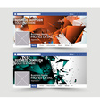 Social Media Web Banner Website Header for page vector image