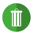 trash can garbage environment recycle-shadow vector image