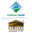 Company house logo vector image