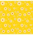 Retro seamles yellow background vector image vector image
