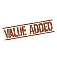 Value added stamp vector image