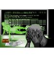 hacker attack vector image