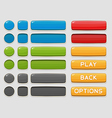 Interface buttons set for games or apps vector image vector image