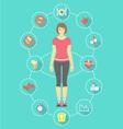Woman Fitness Infographics vector image