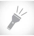 Flashlight black icon vector image