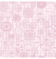 seamless pink floral pattern vector image vector image