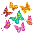 cartoon butterflies vector image vector image