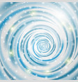 abstract blue wave on white background vector image