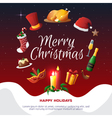 Christmas Party Card vector image