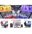 cybersport big fight poster in electronic gaming vector image