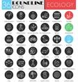 Ecology circle white black icon set Modern vector image