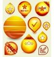 orange sale tags vector image