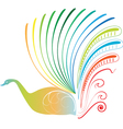 peocock art vector image