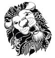 Tattoo leo symbol vector image