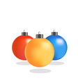 three new year s multicolored balls vector image