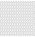 vertical thin wavy lines seamless pattern vector image