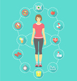 Woman Fitness Infographics vector image