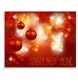 Christmas New Year greeting Three shiny red vector image