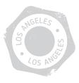 Los Angeles stamp vector image