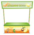 A stall for refreshing drinks vector image vector image