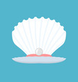 shell with pearl open conch production of natural vector image