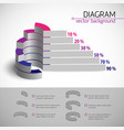 multicolored diagram template vector image