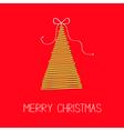 Fir Christmas tree with bow Scribble Christmas vector image
