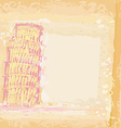 vintage pisa tower background vector image