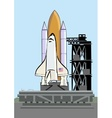 space shuttle at launch pad vector image