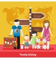 Happy Family Trip Traveling Holiday vector image