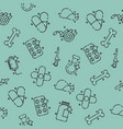 pharmacy concept icons pattern vector image