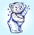 Standing bear vector image