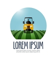 tractor logo design template farm or vector image