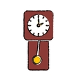 Time clock concept vector image