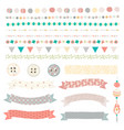 pretty bead borders and ribbons vector image vector image