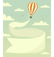 Hot air balloon with banner vector image vector image