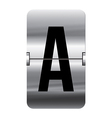 Alphabet silver flipboard letters a vector image