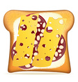 toast 09 vector image vector image