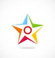 star shape color logo vector image