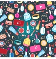 beautiful pattern of rings and cosmetics vector image