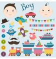 Scrapbook boy set vector image vector image