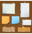notes paper vector image vector image