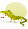 cartoon happy lizard vector image