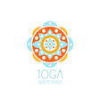 colorful creative yoga flower logo vector image
