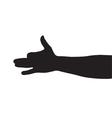 Dog arm shadow vector image
